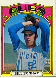 1972 Topps Baseball Cards      029B     Bill Bonham Green